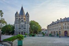 Protestancki Nowy Świątynny Świątynny Neuf Kościelny Frontowy widok przy Metz Francja fotografia royalty free