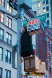 Protestando dall'iluminazione pubblica Immagini Stock