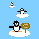 Protestando pinguins Imagem de Stock Royalty Free