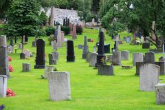 Protestant cemetery Stock Image