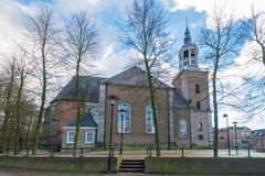 Protestant Church called Grote Kerk, Almelo. Twente, Overijssel, the Netherlands royalty free stock photos