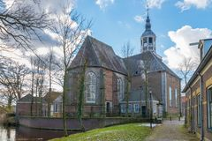 Protestant Church called Grote Kerk, Almelo stock images