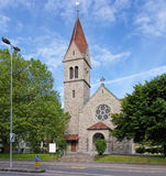 Protestant church in the city of Zug Royalty Free Stock Photography