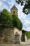 Protestant Church in Germany. Reichenbach an der Fils - village in Germany. It is one of three cities with the same architectural protestant church with old Stock Photo