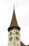 Protestant church in Interlaken. Switzerland Royalty Free Stock Image