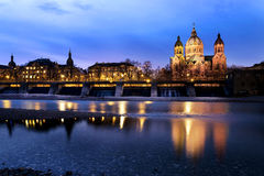 Protestant church Munich, Germany Stock Images