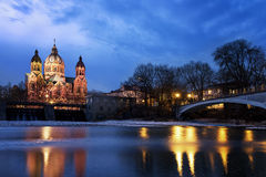 Protestant church in Munich, Germany Royalty Free Stock Photo