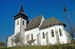 Protestant church in Sintereag (Somkerek). Transylvania, Romania Stock Photo