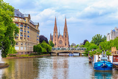 Protestant Church Strasbourg Stock Photography