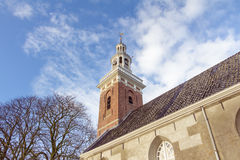 Protestant church in Tjamsweer Royalty Free Stock Photos