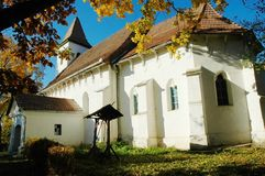 Protestant church in Transylvania Stock Photo