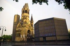 The Protestant Kaiser William Memorial Church. In the centre of the Breitscheidplatz. The original church on the site was built in the 1890s. It was badly Stock Photos