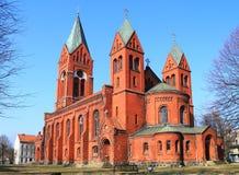 Protestant Reformował Luterańskiego kościół Insterburg 1886-1890 rok budowa Obrazy Stock