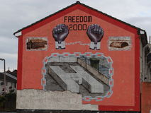Protestant Wall in Belfast Royalty Free Stock Images