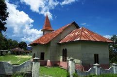 Protestantkyrka Lumban Lintong, Samosir ö. Royaltyfri Bild
