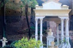 Protestantse begraafplaats in Rome Stock Foto
