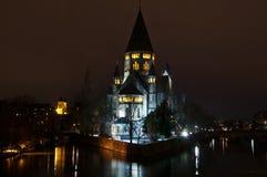 Protestantse Tempel in Metz Stock Foto's