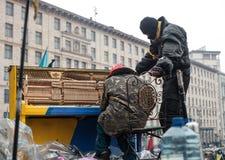 Protestas antigubernamentales en el centro de Kiev Imagen de archivo libre de regalías