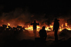 Protestas antigubernamentales en Ucrania Fotografía de archivo libre de regalías