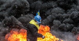 Protestas antigubernamentales en Ucrania Imágenes de archivo libres de regalías
