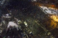 Protestas antis de la corrupción en Bucarest fotos de archivo