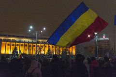 Protestas antis de la corrupción en Bucarest Fotografía de archivo libre de regalías