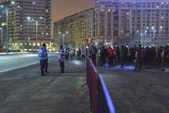 Protestas antis de la corrupción en Bucarest Fotos de archivo libres de regalías