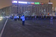 Protestas antis de la corrupción en Bucarest Imagen de archivo