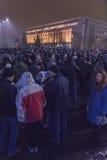 Protestas antis de la corrupción en Bucarest el 22 de enero de 2017 Imagen de archivo