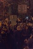 Protestas antis de la corrupción en Bucarest el 22 de enero de 2017 Imagen de archivo libre de regalías