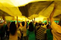 Protestas brasileñas de la calle Imágenes de archivo libres de regalías