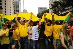 Protestas brasileñas de la calle Fotos de archivo libres de regalías
