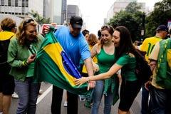 Protestas brasileñas de la calle Fotografía de archivo libre de regalías