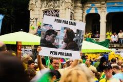 Protestas brasileñas de la calle Imagenes de archivo