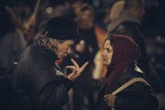 Protestas contra la mina de oro de Rosia Montana, Bucarest, Rumania Foto de archivo libre de regalías