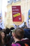 Protestas contra TTIP en ciudades austríacas Fotos de archivo