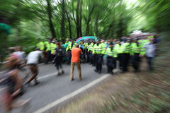 Protestas de Balcombe Fracking Foto de archivo libre de regalías