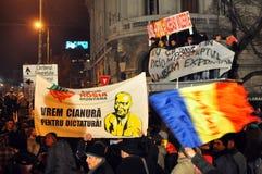 Protestas de Bucarest - 19 de enero de 2012 - 25 Fotografía de archivo