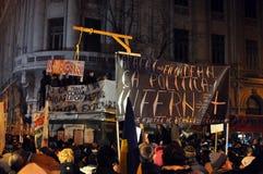 Protestas de Bucarest - 19 de enero de 2012 - 31 Fotos de archivo libres de regalías