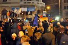 Protestas de Bucarest - 19 de enero de 2012 - 8 Imagen de archivo libre de regalías