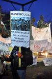 Protestas de Bucarest - 23 de enero de 2012 Imagen de archivo libre de regalías
