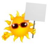 protestas de 3d Sun Imágenes de archivo libres de regalías