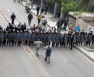 Protestas de Egypts Foto de archivo