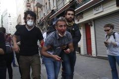 Protestas de Estambul Taksim Imagenes de archivo