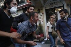 Protestas de Estambul Taksim Fotografía de archivo