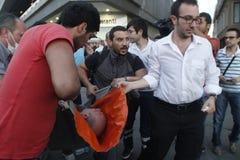 Protestas de Estambul Taksim Imagen de archivo