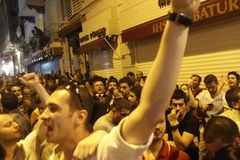 Protestas de Estambul Taksim Imágenes de archivo libres de regalías
