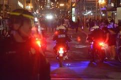 Protestas de la decisión de Ferguson en San Francisco Union Square Imagen de archivo libre de regalías