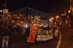 Protestas de la decisión de Ferguson en San Francisco Union Square Fotos de archivo