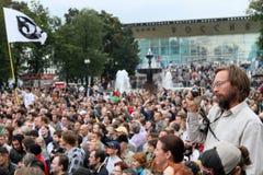 Protestas de Moscú Imágenes de archivo libres de regalías